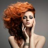 Портрет красоты. Стиль причёсок Стоковые Изображения RF