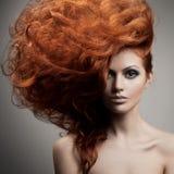 Портрет красоты. Стиль причёсок стоковое изображение rf