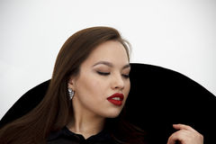 Портрет красоты счастливой женщины Стоковое фото RF