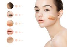 Портрет красоты с макияжем нашивок учреждения стоковые изображения rf