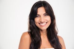 Портрет красоты усмехаясь женщины стоковое фото rf