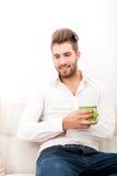 Портрет кресла с кофе Стоковая Фотография RF