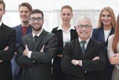 Портрет крупного плана ведущей команды дела Стоковое Изображение