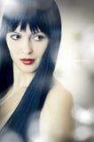 Портрет крупного плана милой молодой женщины Стоковые Фото