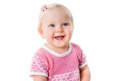 Портрет крупного плана ся младенческой изолированной девушки Стоковые Изображения RF
