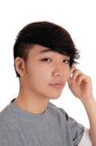 Портрет крупного плана азиатского человека стоковые фотографии rf