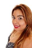 Портрет крупного плана женщины восточного индейца стоковые фотографии rf