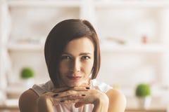 Портрет крупного плана женщины Стоковое фото RF