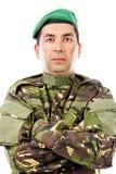 Портрет крупного плана молодого воина при сложенные оружия Стоковые Фотографии RF