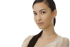 Портрет крупного плана молодой азиатской женщины стоковое фото rf
