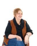 Портрет крупного плана на старшей женщине стоковые изображения rf