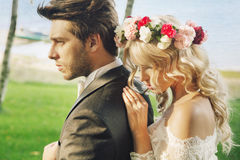 Портрет крупного плана пар замужества Стоковые Фото