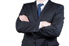 Портрет крупного плана тела бизнесмена изолированный на белой предпосылке Стоковые Изображения RF