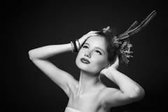 Портрет клоуна девушки Стоковое Изображение