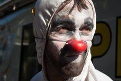 Портрет клоуна на фестивале 2014 клоуна милана Стоковая Фотография RF