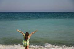 Портрет лета на пляже Стоковая Фотография