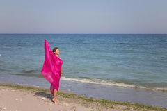 Портрет лета на пляже Стоковые Фото
