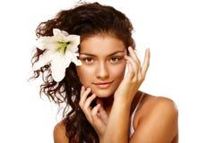 портрет лилии красотки Стоковые Фотографии RF