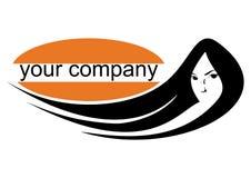 портрет логоса девушки Стоковая Фотография