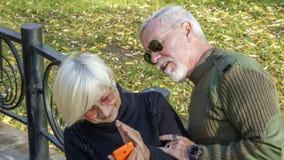 Портрет любящей пары с smartphone Стоковые Изображения RF