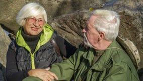 Портрет любящей пожилой пары Стоковая Фотография