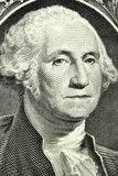 Портрет макроса Джорджа Вашингтона Стоковое фото RF