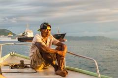 Портрет малагасийского лодочника стоковое фото