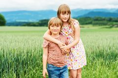 Портрет маленьких ребеят Стоковые Фотографии RF