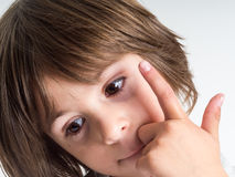 Портрет маленькой девочки Стоковое Изображение