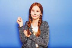 Портрет маленькой 10-ти летней девушки Стоковые Изображения