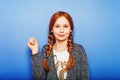 Портрет маленькой 10-ти летней девушки Стоковое Изображение RF