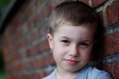 портрет мальчика милый напольный Стоковое Изображение RF