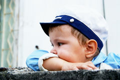 портрет мальчика сиротливый Стоковые Изображения RF