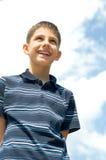 портрет мальчика счастливый стоковое фото rf