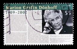 Портрет Мариона Grafin Donhoff, serie рождения столетнего, около 2009 стоковые фото
