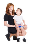 Портрет матери и ее маленького сына Стоковые Изображения RF