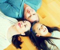Портрет матери, отца и девушки Стоковые Изображения RF