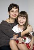 портрет мати дочи Стоковые Фотографии RF