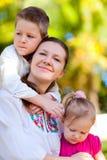 портрет мати малышей Стоковые Фото