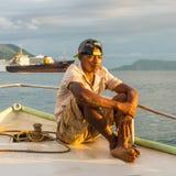 Портрет малагасийского лодочника стоковое фото rf