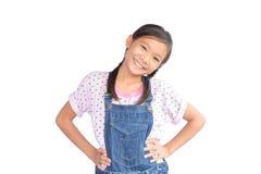 Портрет маленькой азиатской девушки на белизне Стоковые Изображения RF
