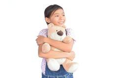 Портрет маленькой азиатской девушки на белизне Стоковое фото RF