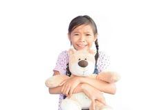 Портрет маленькой азиатской девушки на белизне Стоковое Изображение RF