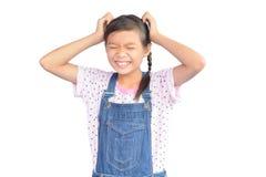 Портрет маленькой азиатской девушки на белизне Стоковые Фотографии RF