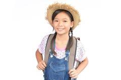 Портрет маленькой азиатской девушки на белизне Стоковая Фотография RF