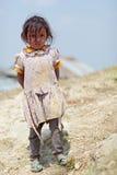 Портрет маленькой неопознанной непальской девушки Стоковые Изображения