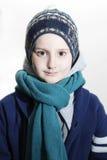 Портрет мальчика в одеждах зимы Стоковое фото RF