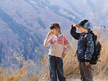 Портрет мальчика и девушки Стоковая Фотография RF