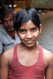 Портрет мальчика на улице в Kolkata стоковое фото rf