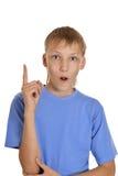 портрет мальчика подростковый Стоковые Изображения RF